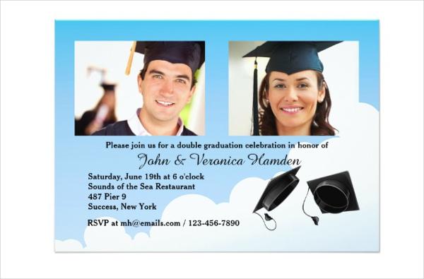 photo thank you graduation invitation
