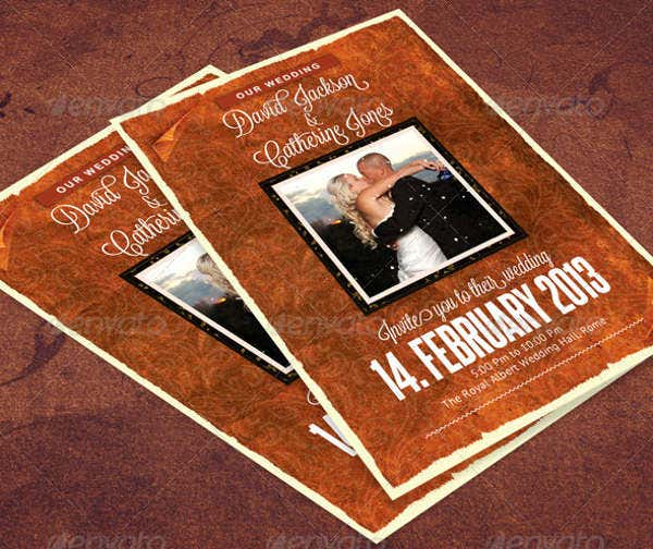 -Vintage Themed Wedding Card