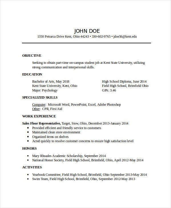 45 Download Resume Templates Pdf Doc Free Premium Templates