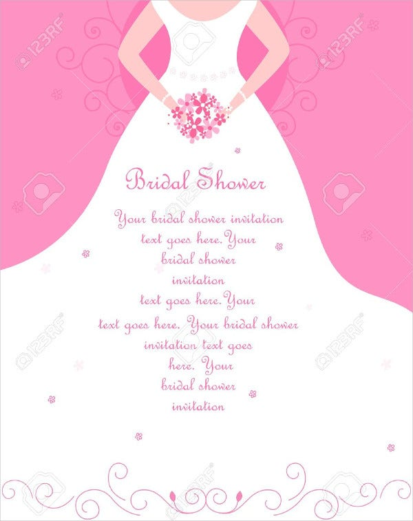 Free bridal shower invitations free premium templates printable blank bridal shower invitation filmwisefo