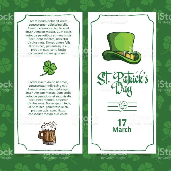 st-patricks-day-menu-template