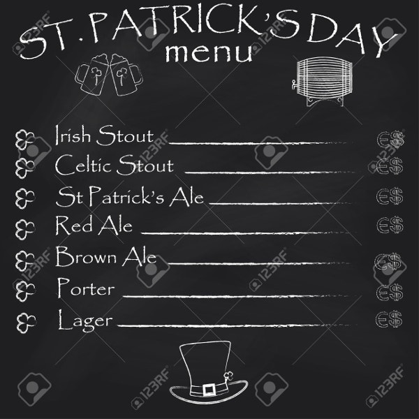 st-patricks-day-chalkboard-menu