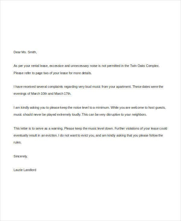 Complaint letter templates in word 28 free word pdf documents sample noise complaint letter from landlord spiritdancerdesigns Images