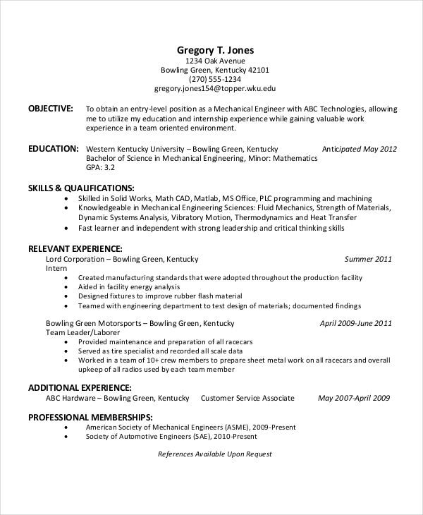 download engineering resume formats engineering student resume