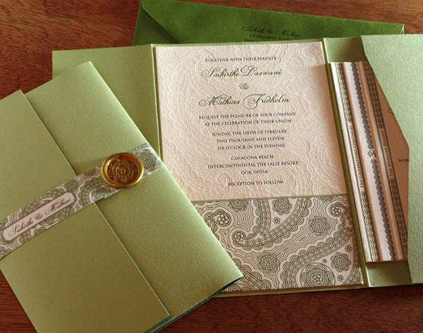 -Diy Fabric Wedding Card
