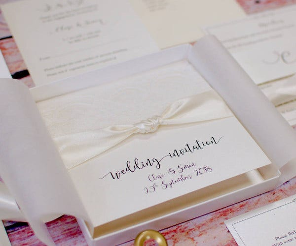 -Diy Lace Wedding Card