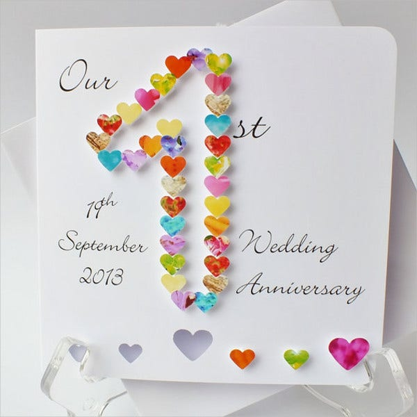 1st wedding anniversary cards
