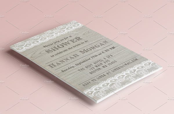 -Rustic Wooden Wedding Card