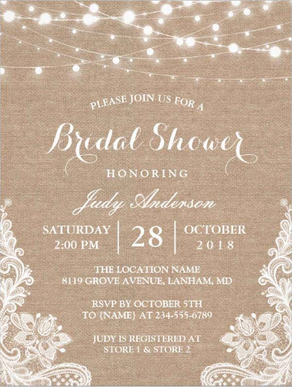 Free Bridal Shower Invitations – Wedding Shower Invitation Templates Free