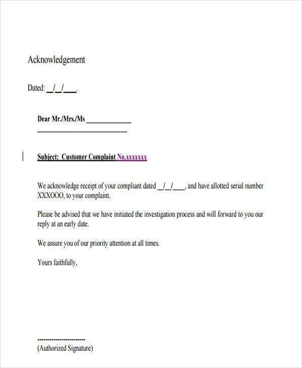 Complaint Letter Samples Writing Professional Letters Complaint ...