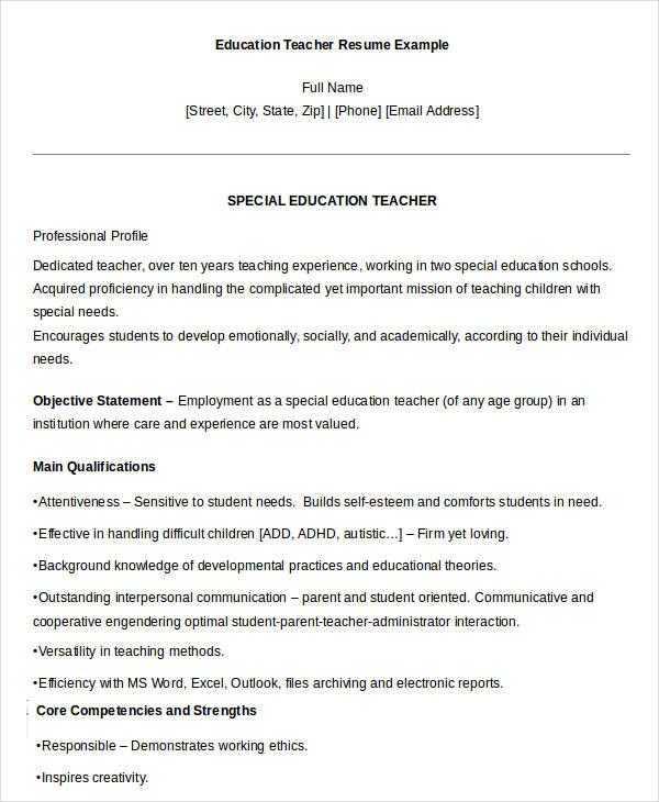 resume teacher sample cover letter student teacher resume