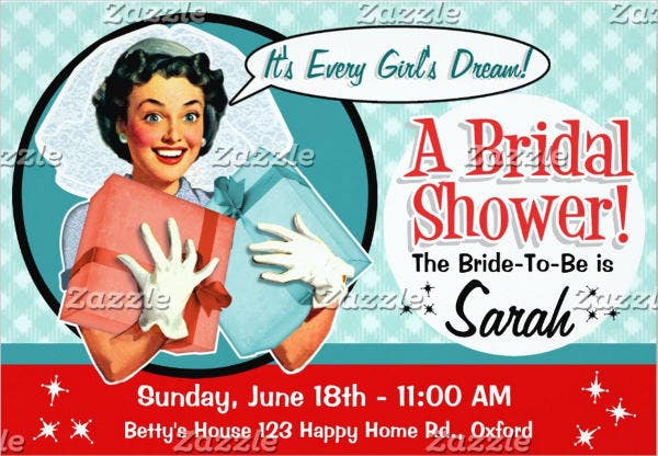 funny bridal shower invitation
