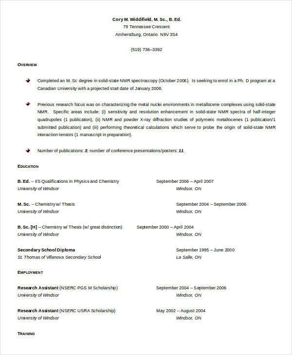 Professional Teaching Resume
