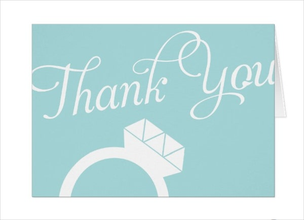 engagement ring thank you card - Engagement Thank You Cards