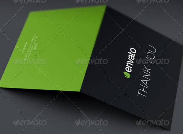 -Free Business Thank You Card