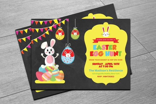 easter egg hunt invitation flyer