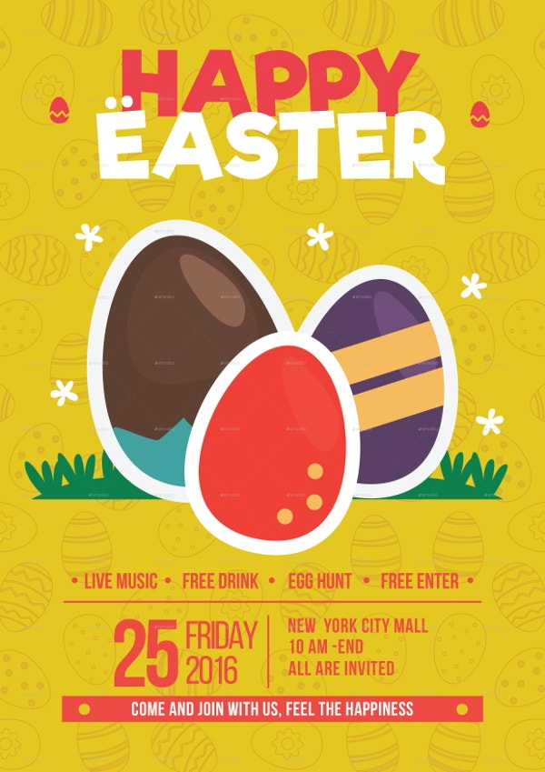 easter festival flyer template