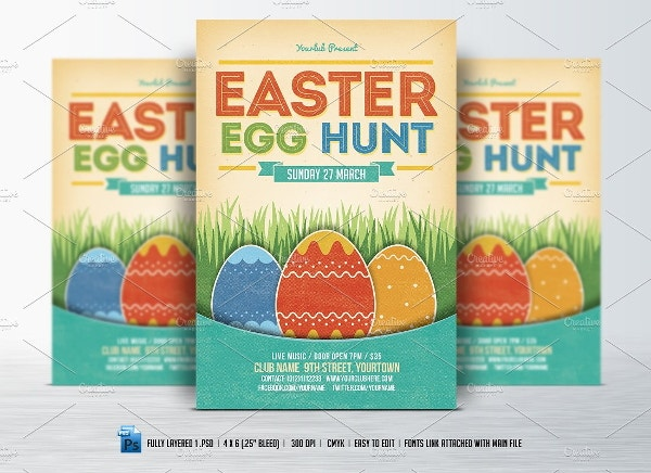 printable easter egg hunt flyer