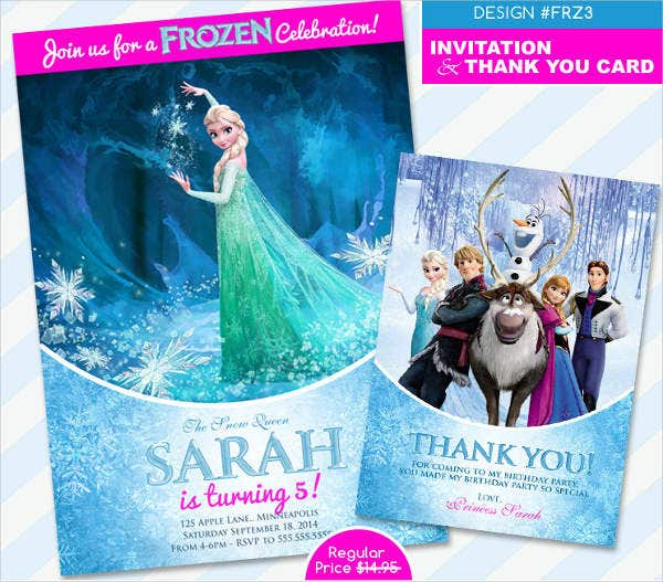 frozen-invitations-and-thank-you-card