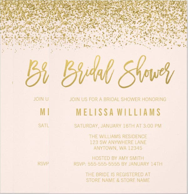 26 free bridal shower invitations psd eps free premium templates gold glitter bridal shower invitation filmwisefo