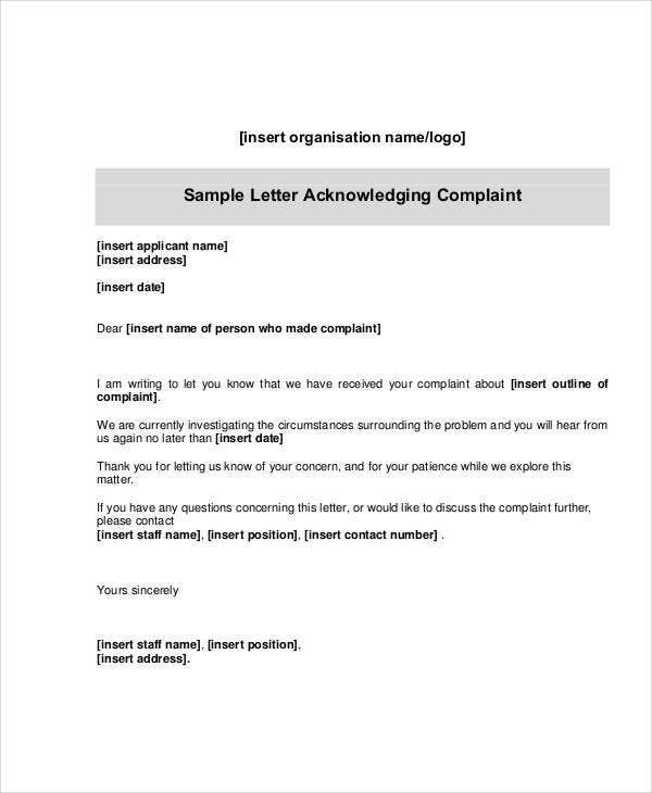 how to write a complaint email to customer service