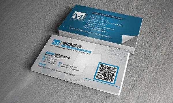 -Software Company Business Card