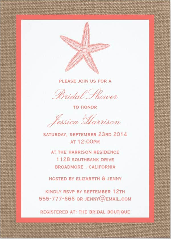 Free Bridal Shower Invitations Free Premium Templates