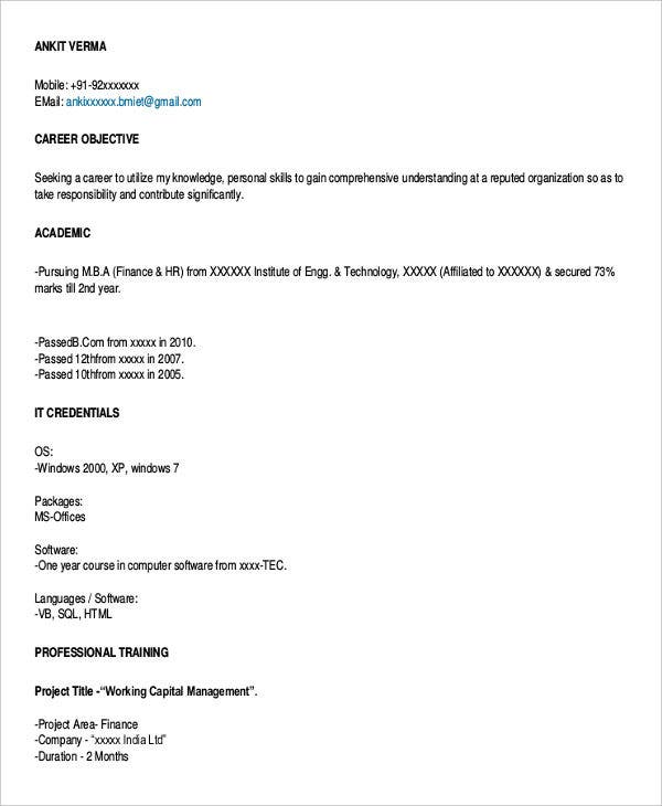 45 Download Resume Templates Pdf Doc Free Premium Templates