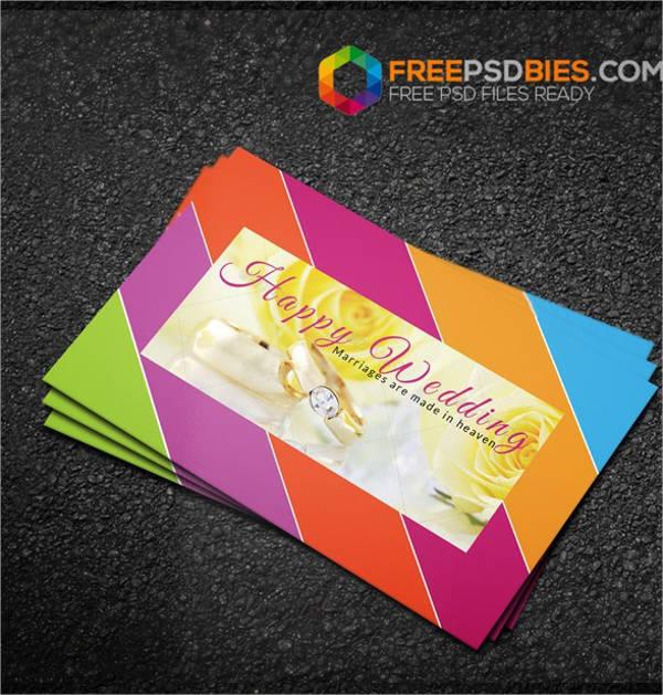 Wedding card designs free premium templates wedding decoration business card junglespirit Gallery