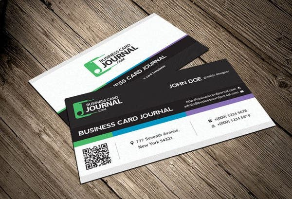 Business card examples free premium templates modern corporate business card reheart Gallery