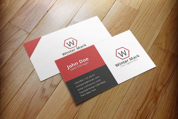Business card examples free premium templates simple corporate business card colourmoves