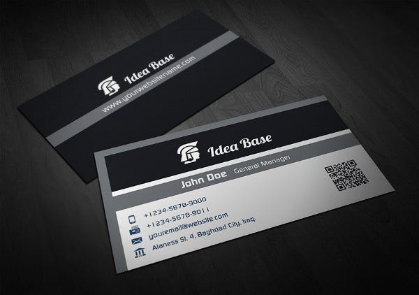 Business card examples free premium templates black corporate business card colourmoves