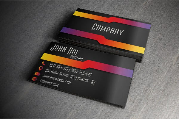Business card examples free premium templates modern business card example colourmoves