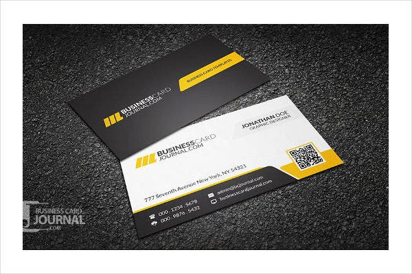 sleek modern business card