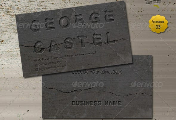 -Cracked Letterpress Business Card