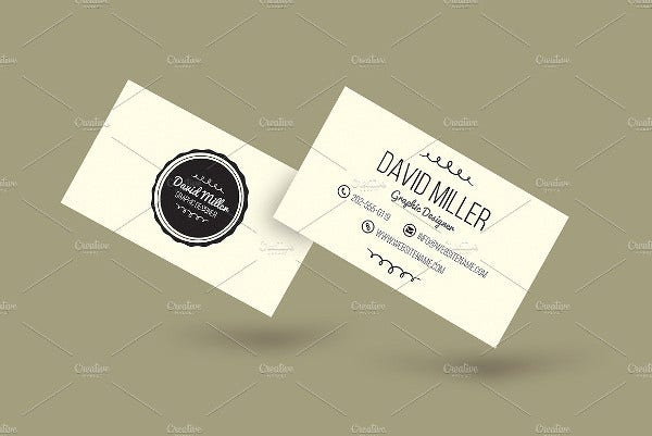 minimal vintage business card