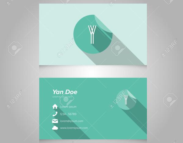 flat minimal business card