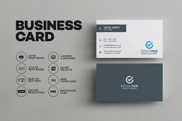 Business card examples free premium templates sleek minimal business card cheaphphosting Gallery