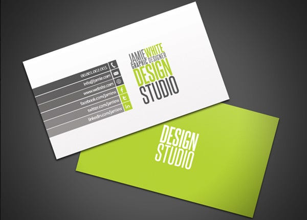 professional student business card