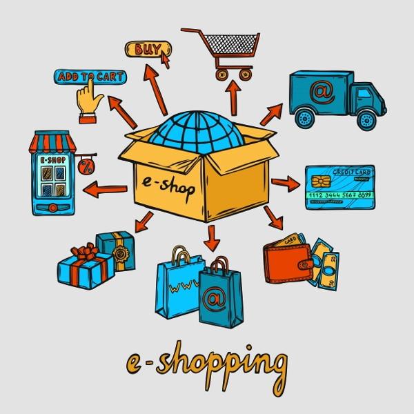 online-shopping-design-vector