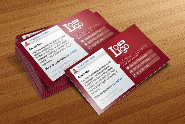 free social media networking business card