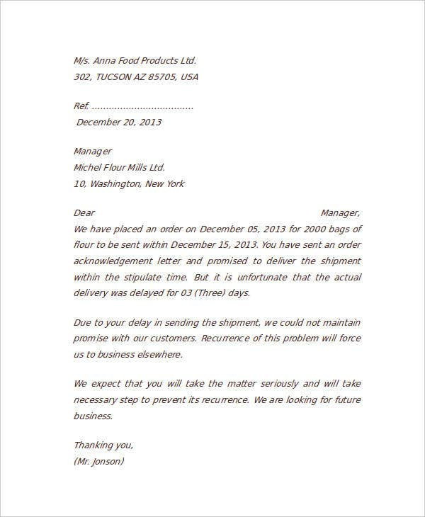 Complaint letter samples 28 free word pdf documents download business communication complaint letter altavistaventures Image collections
