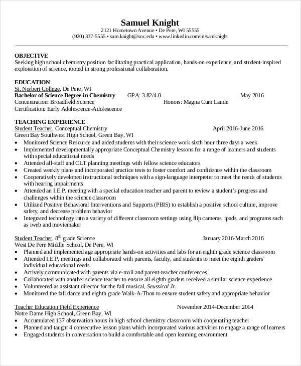 resume format for school teacher free download1