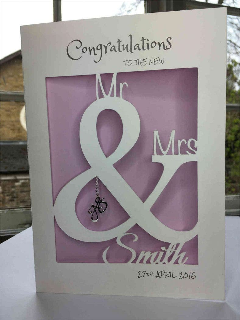 handmade personalised wedding card 788x1051