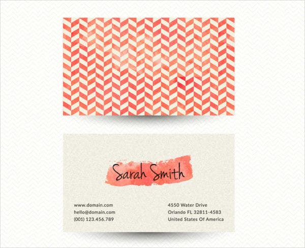 Printable business cards free premium templates minimalist chevron business card colourmoves Gallery