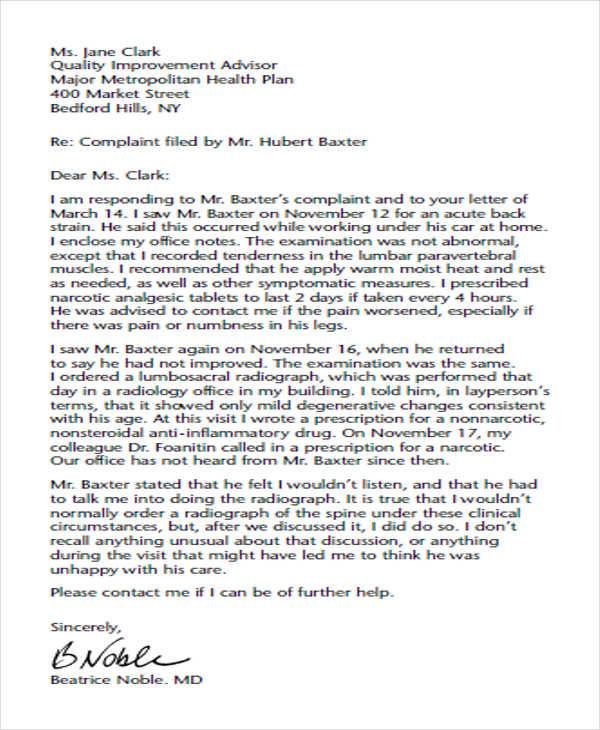formal medical complaint letter1