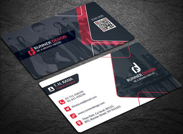 -Free Business Card Layout