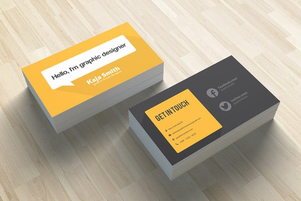 Business Card Examples Free Premium Templates - Sample of business card template