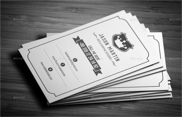 Vintage Business Card Template