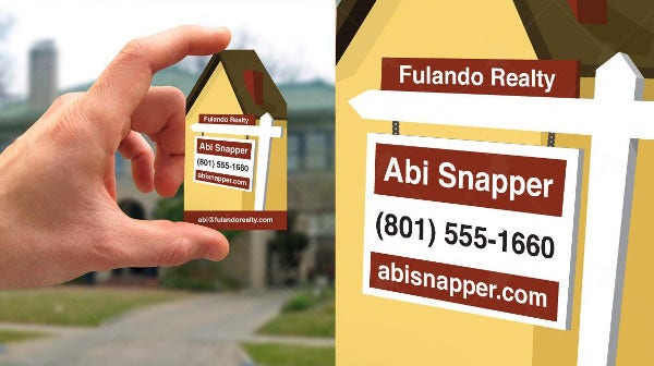 -Creative Real Estate Business Card